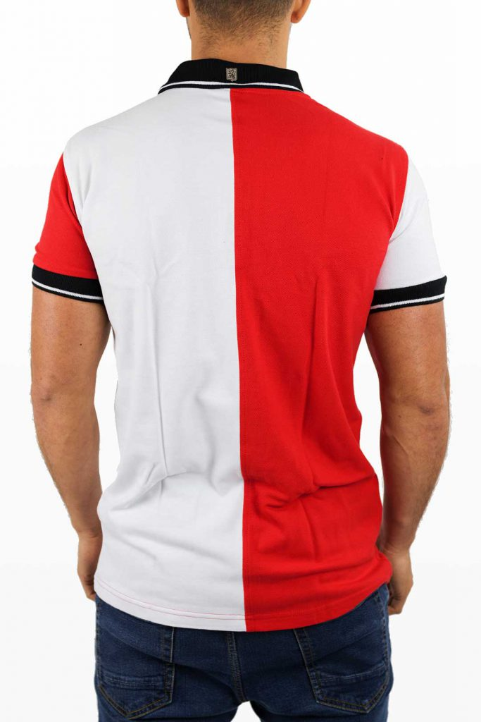 Casual Feyenoord Polo - 1908 Jersey No. 12 - Rood/Wit