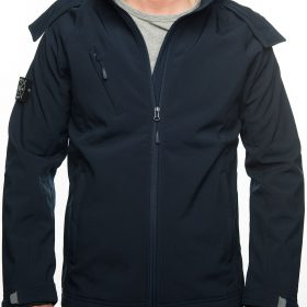 Jacket Softshell, FRFC1908 - Navy met Stone Island Patch