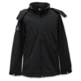Hooded X-Line Jacket - Zwart