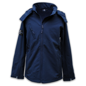 Hooded X-Line Jacket - Navy