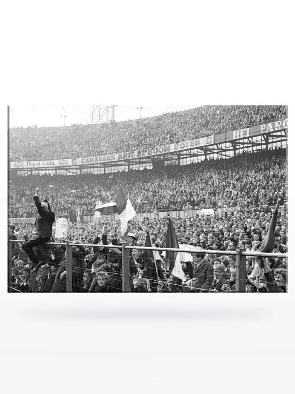 Canvas - Stadiontribune in de jaren '50