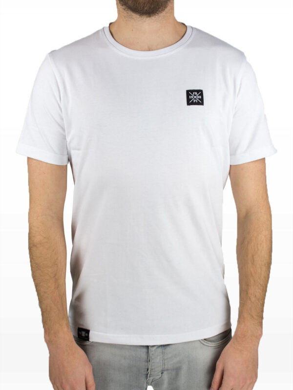 Casual Kruislogo T-Shirt Wit