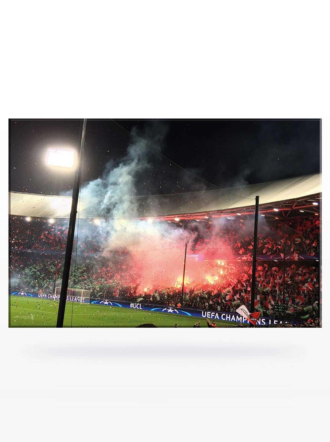 Feyenoord Canvas, Champions League TIFO actie