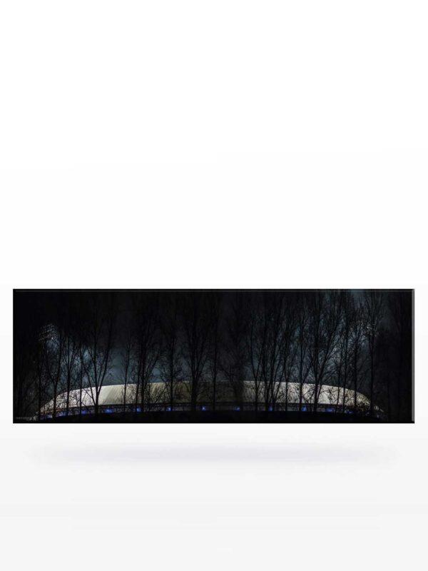 Canvas schilderij van De Kuip bij Nacht
