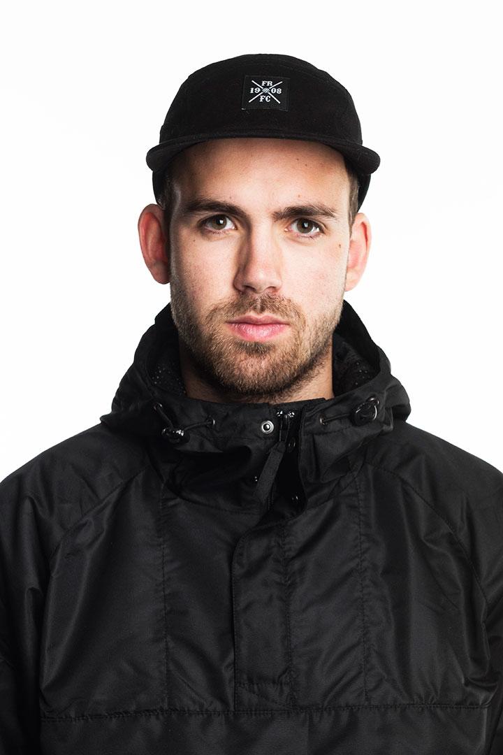 Feyenoord Cap, 5-Panel, X-Label Zwart