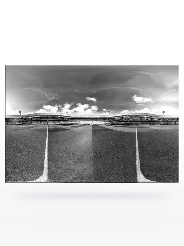 Panorama Totaaloverizcht vanaf de middenstip Spandoeken Zee in De Kuip 2021 (Zwart-Wit)