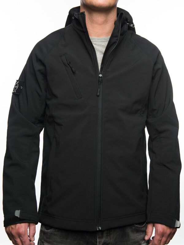 Jacket Softshell, FRFC1908 - Zwart met Stone Island Patch