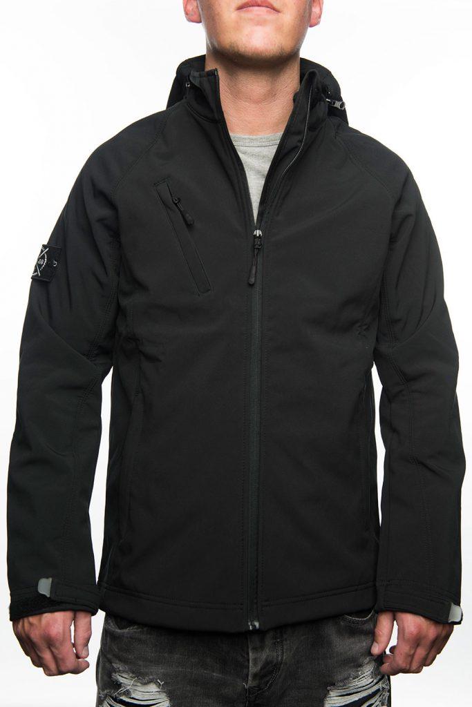 Jacket Softshell, FRFC1908 - Zwart met Stone Island Patch