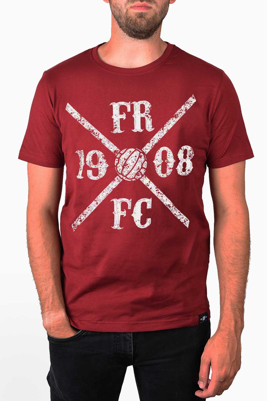 Kruislogo Shirt Bordeaux Rood