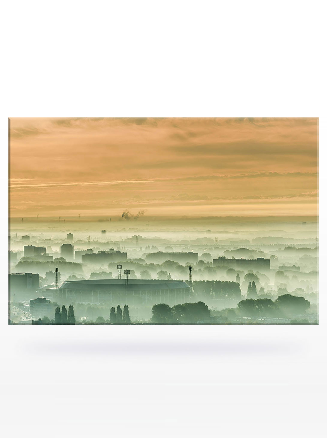 De Kuip (in de mist) Canvas (120 x 80)
