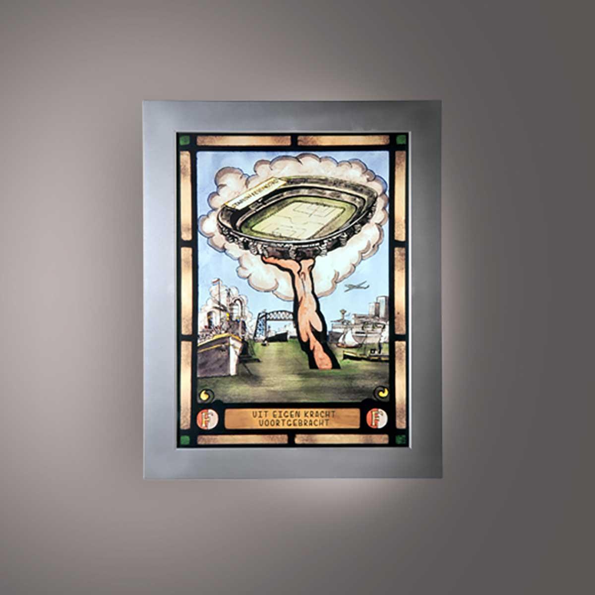 Schilderij Met Eigen Foto.Led Feyenoord Schilderij Uit Eigen Kracht Voortgebracht Stadion