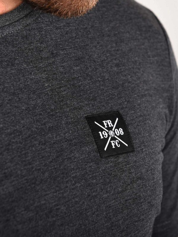Kruislogo Casual T-Shirt, Donker Grijs