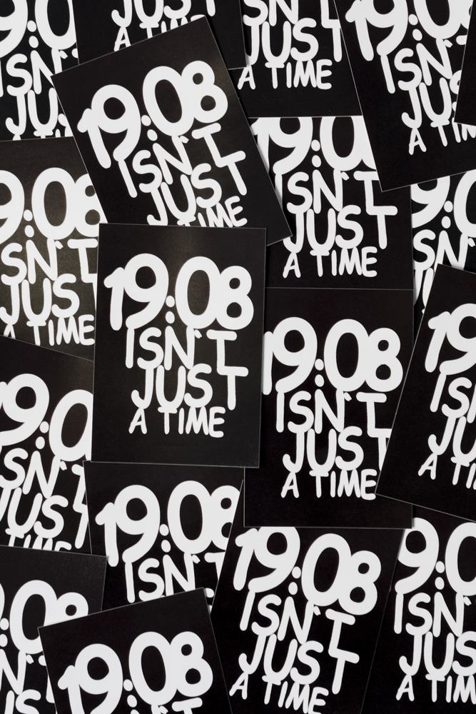 59c24c37daf 19:08 isn't just a time Stickers (12 stuks) | FRFC1908.nl