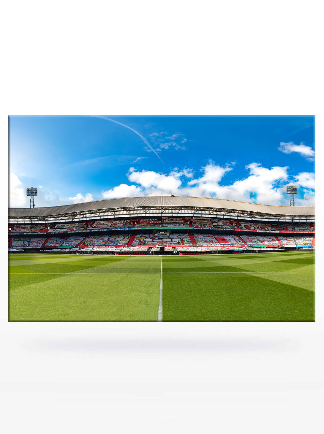 Panorama Olympiatribune Spandoeken Zee in De Kuip Feyenoord Rotterdam 2021