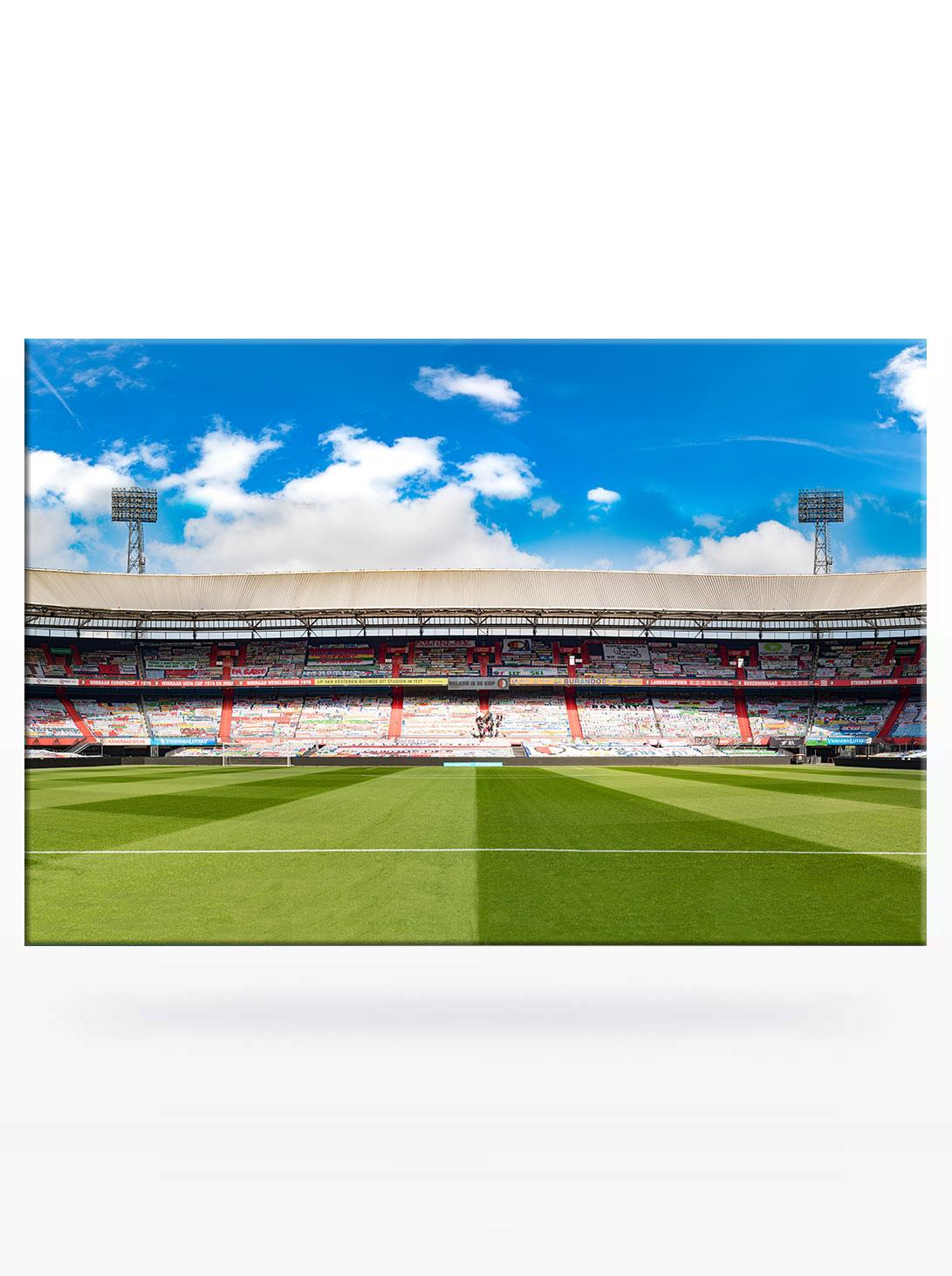 Panorama Stadiontribune Spandoeken Zee in De Kuip Feyenoord Rotterdam 2021
