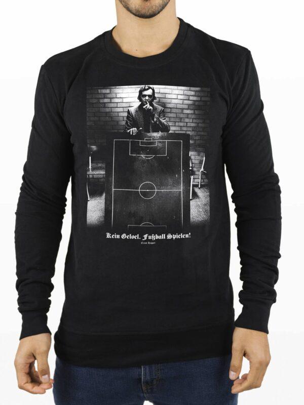 Ernst Happel - Crewneck Sweater, Kein geloel fussball spielen!