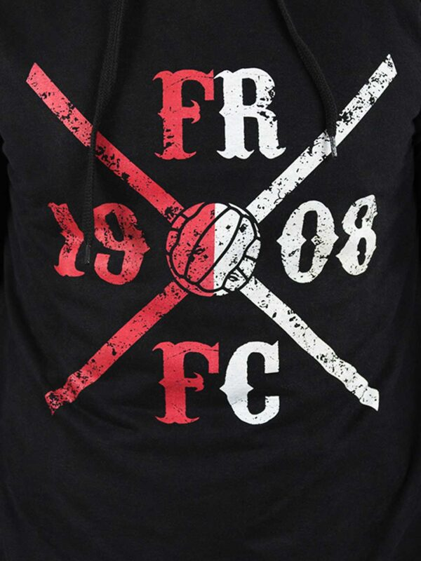 FRFC1908 Kruislogo Hoody - Rood/Wit