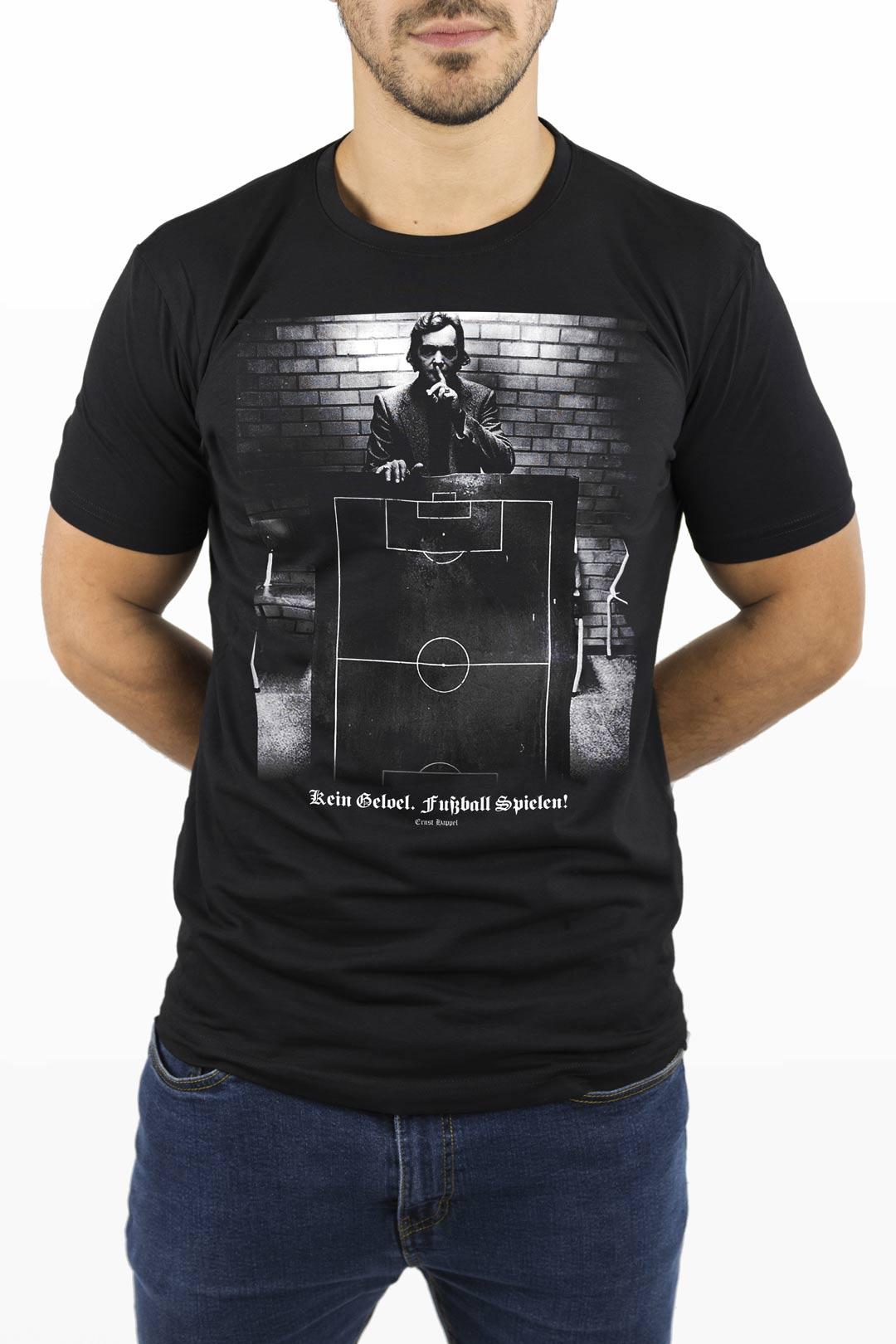 Ernst Happel T-Shirt, Limited Edition, Kein Geloel Fussball Spielen!