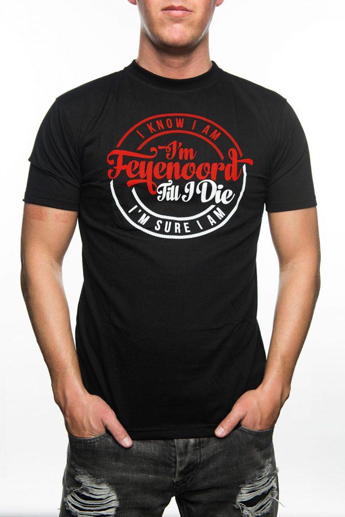 T-Shirt I'm Feyenoord Till I Die, Zwart