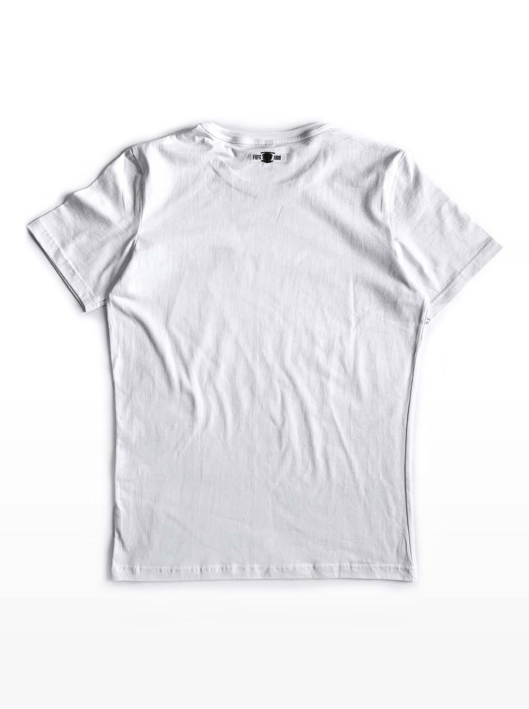 T-Shirt - Kruislogo Wit met Groen - Achterkant