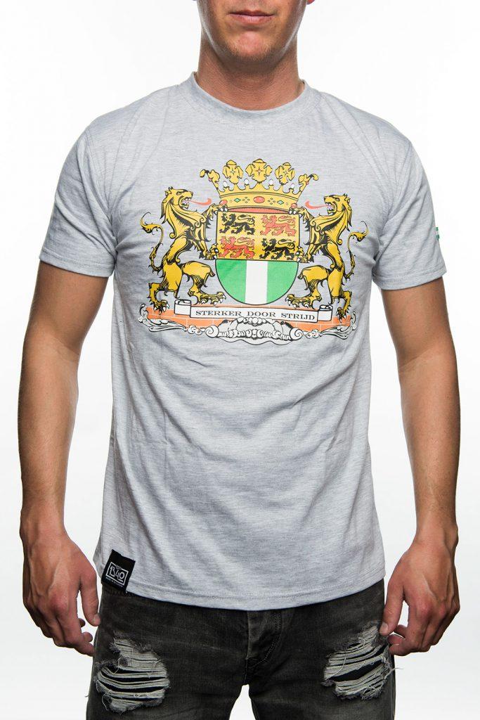 T-Shirt Stadswapen van Rotterdam, Grijs met Zwart
