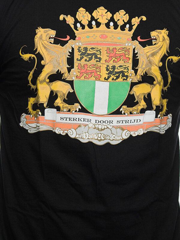 T-Shirt Stadswapen van Rotterdam, Zwart met Goud