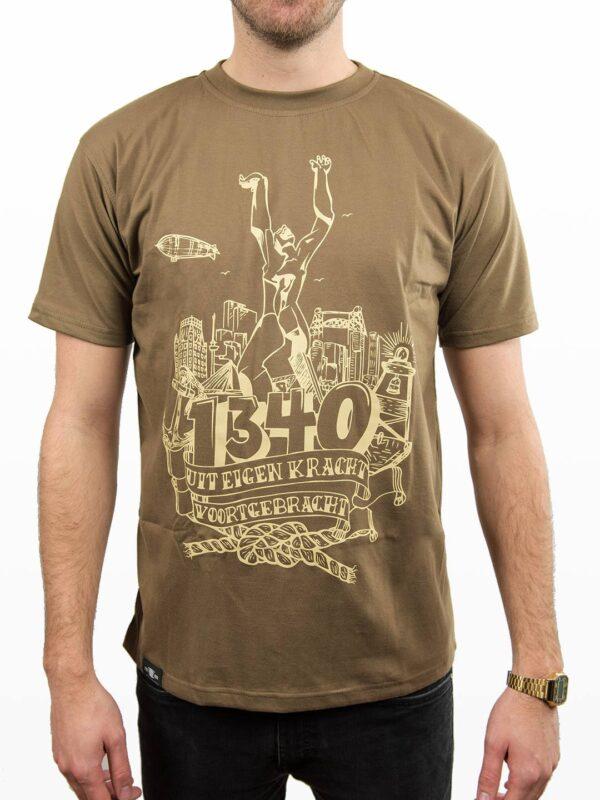 T-Shirt Beeld van Zadkine 'Stad zonder Hart'- Bruin