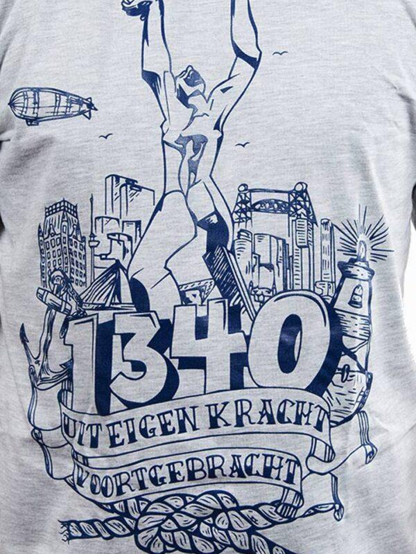 T-Shirt Beeld van Zadkine 'Stad zonder Hart'- Grijs