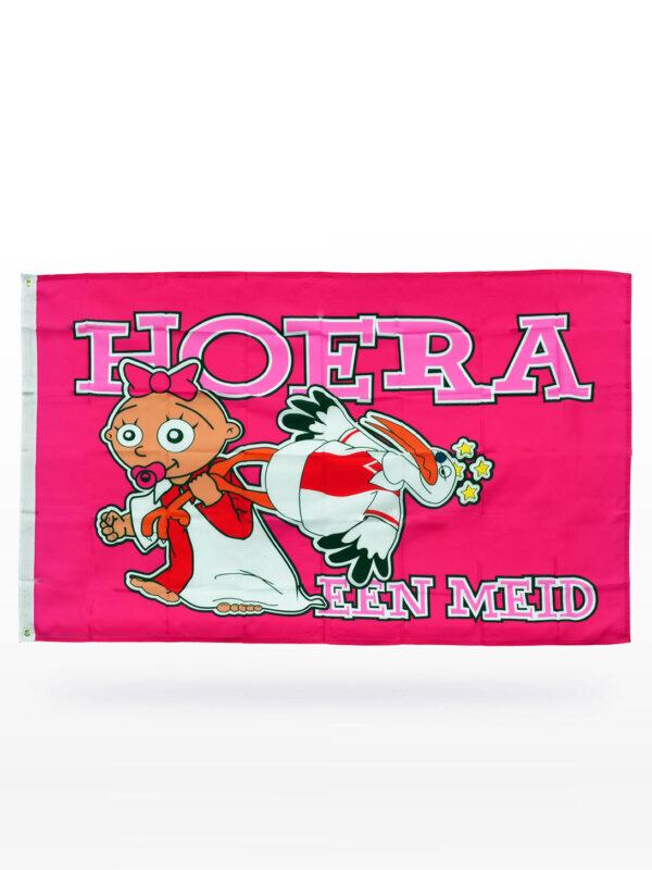 Feyenoord Baby Vlag - Hoera een Meid