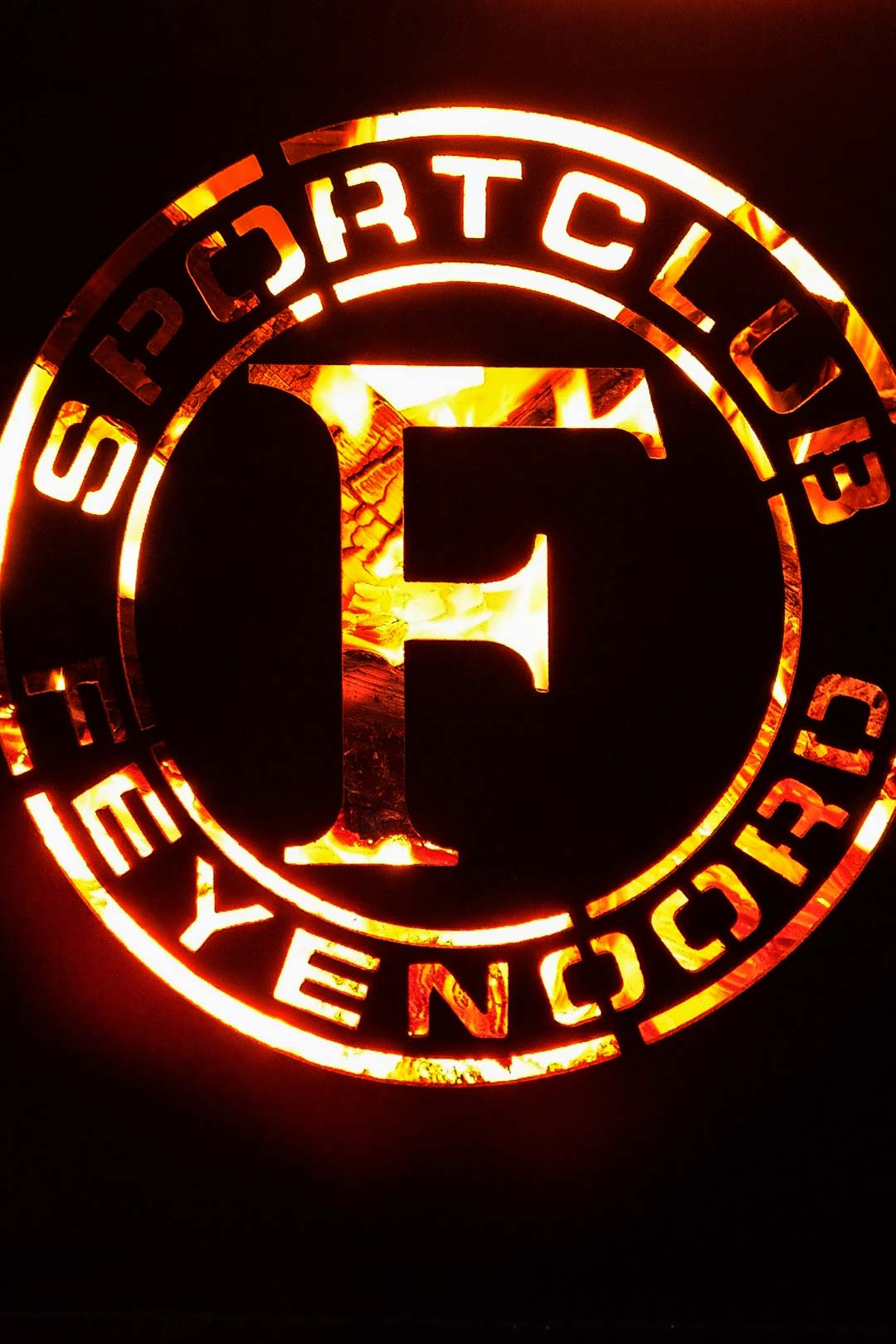 Feyenoord Vuurkorf Detailfoto