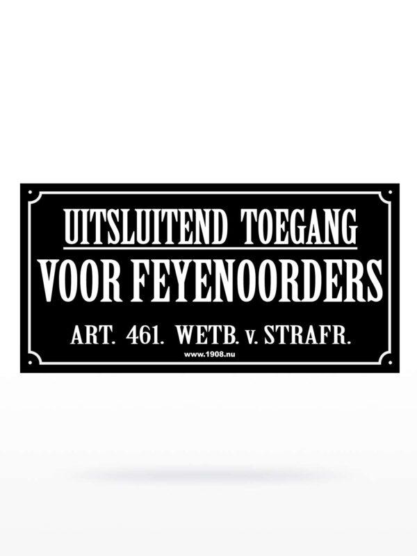 Feyenoord Stickers - Uitsluitend Toegang XXL