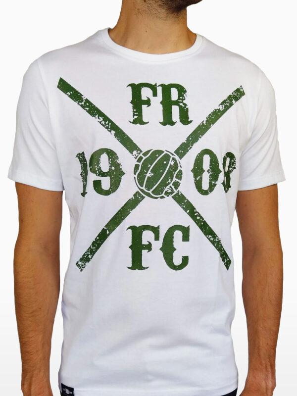 T-Shirt - Kruislogo Wit met Groen - Voorkant
